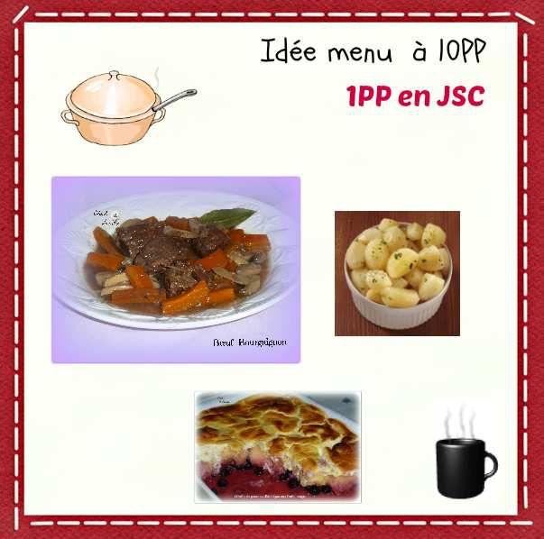 Idée menu à 10PP et 1PP en JSC