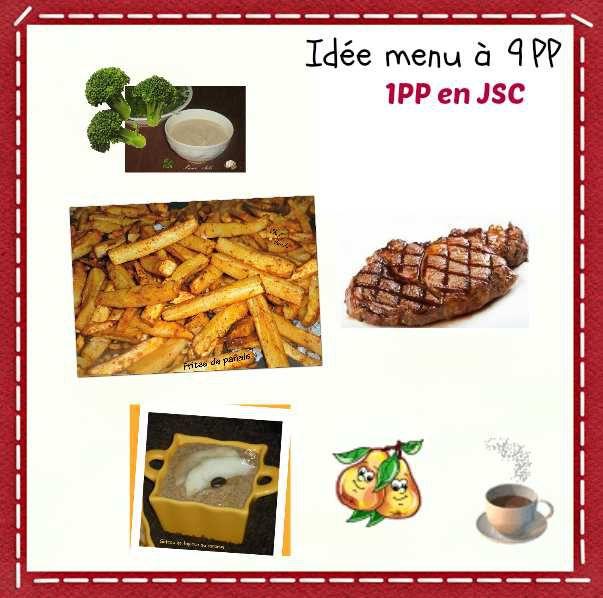 Idée menu à 9PP et 1PP en JSC