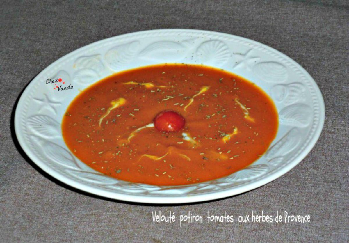 Velouté potiron tomates aux herbes de Provence