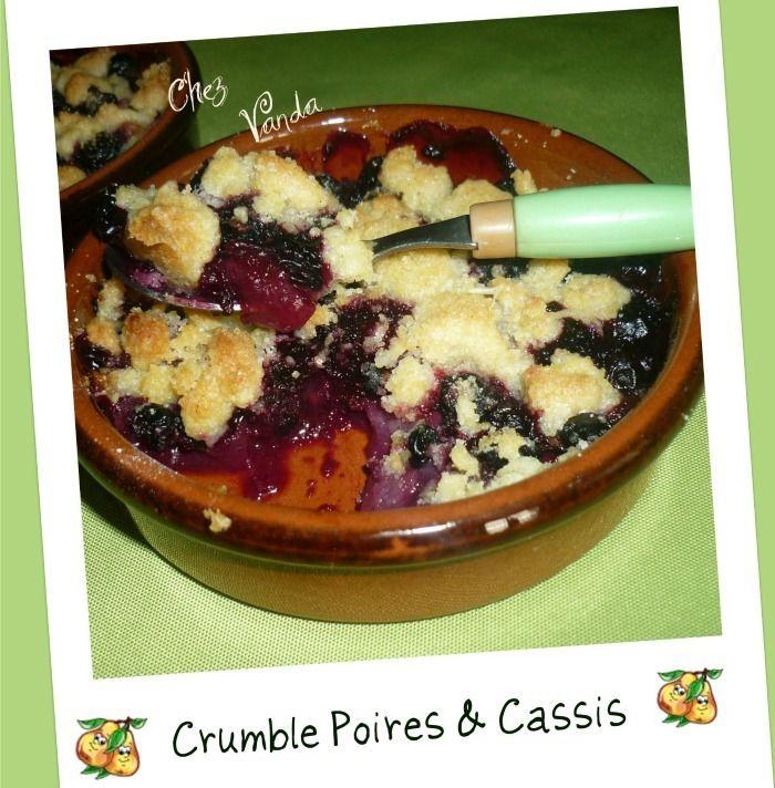 Crumble poire cassis