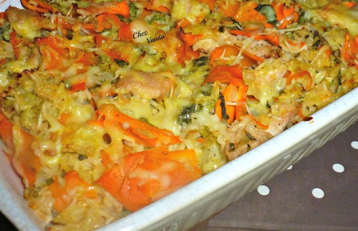 Gratin de  dinde aux petits légumes (+ idée menu  à 7 SP)