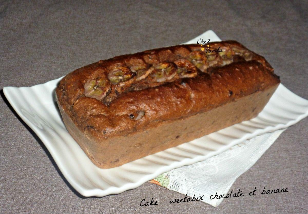 Cake  weetabix chocolaté et banane