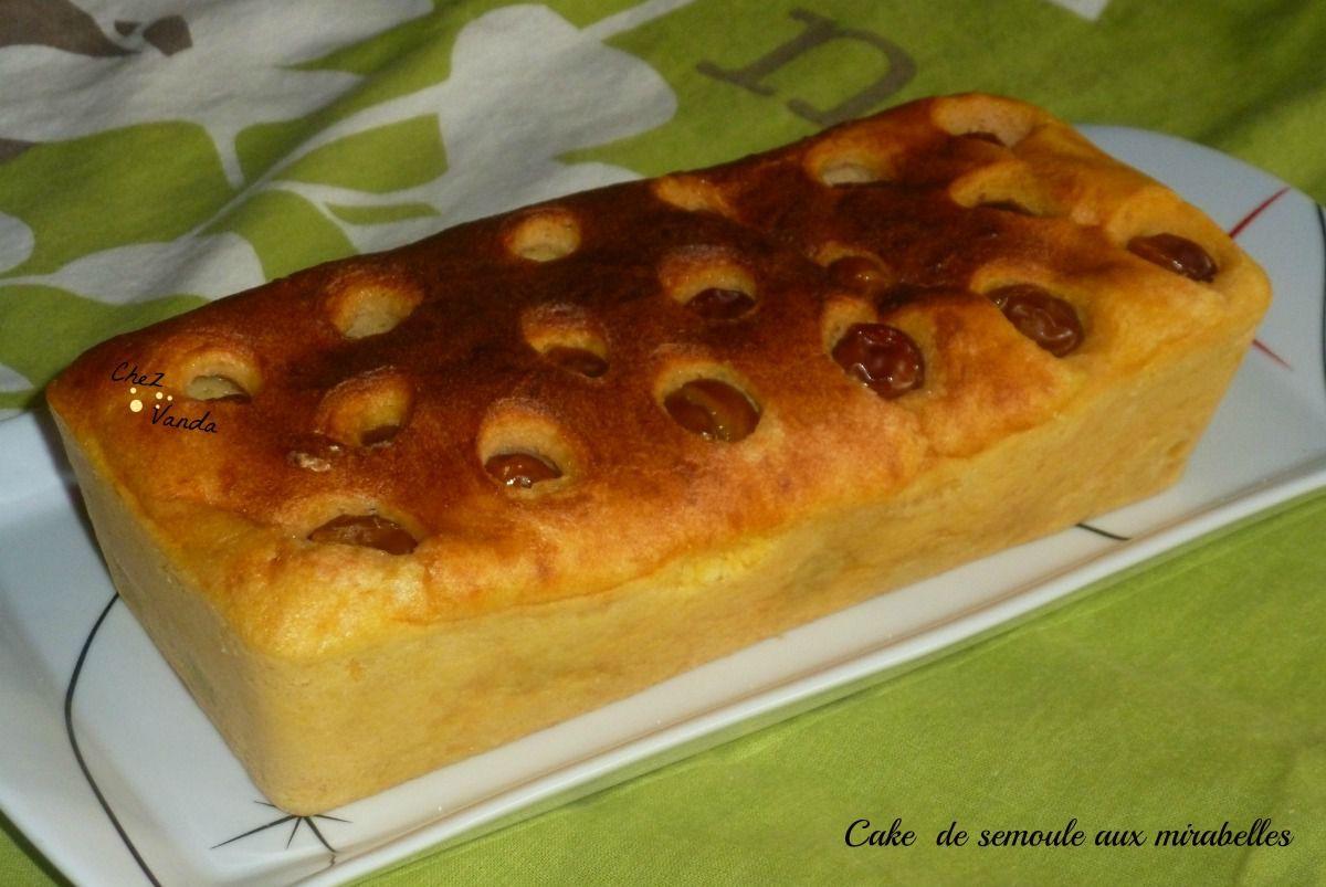 Cake aux mirabelles (sans farine)