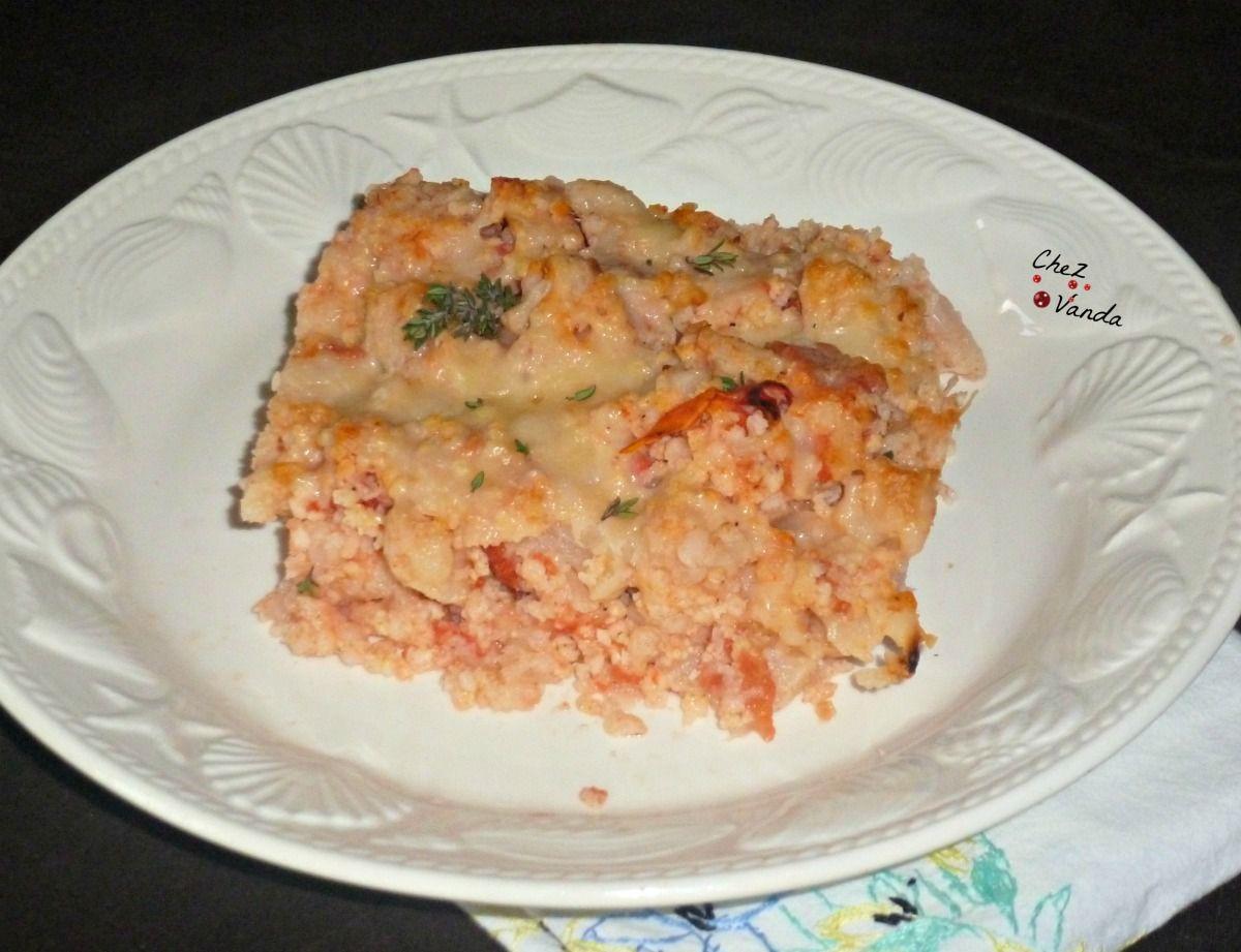 Gratin de chou-fleur au millet, tomates et comté