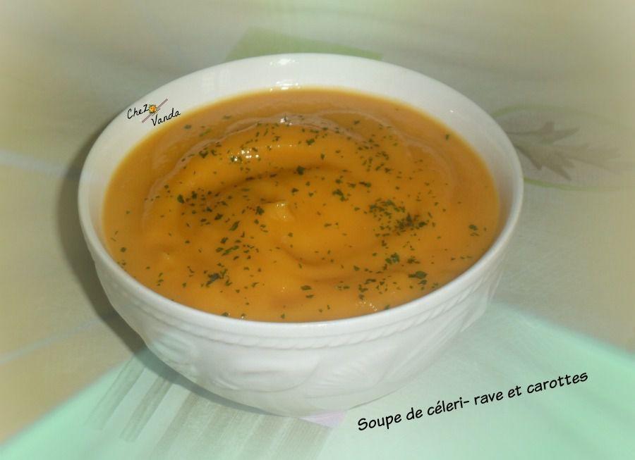 Soupe de céleri- rave et carottes