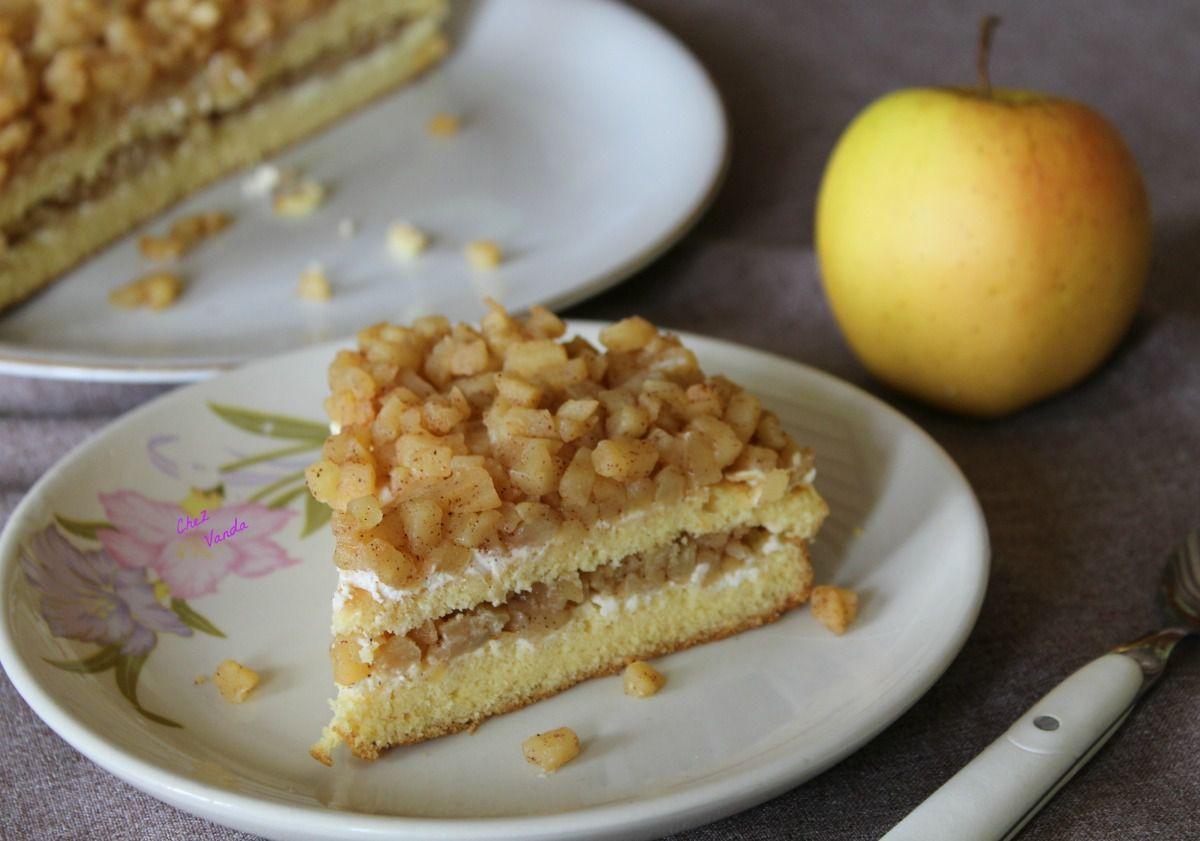 Layer cake aux pommes caramélisées