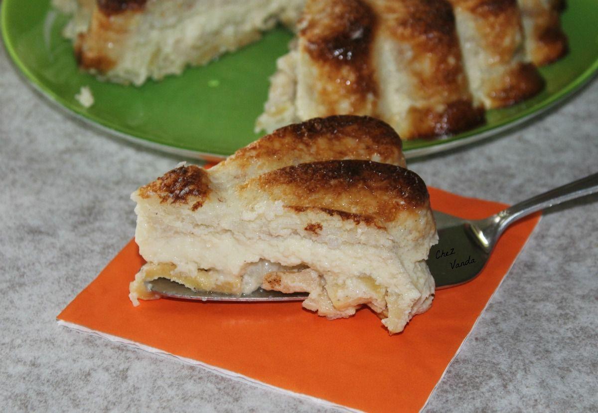 Gâteau de riz aux pommes épicées