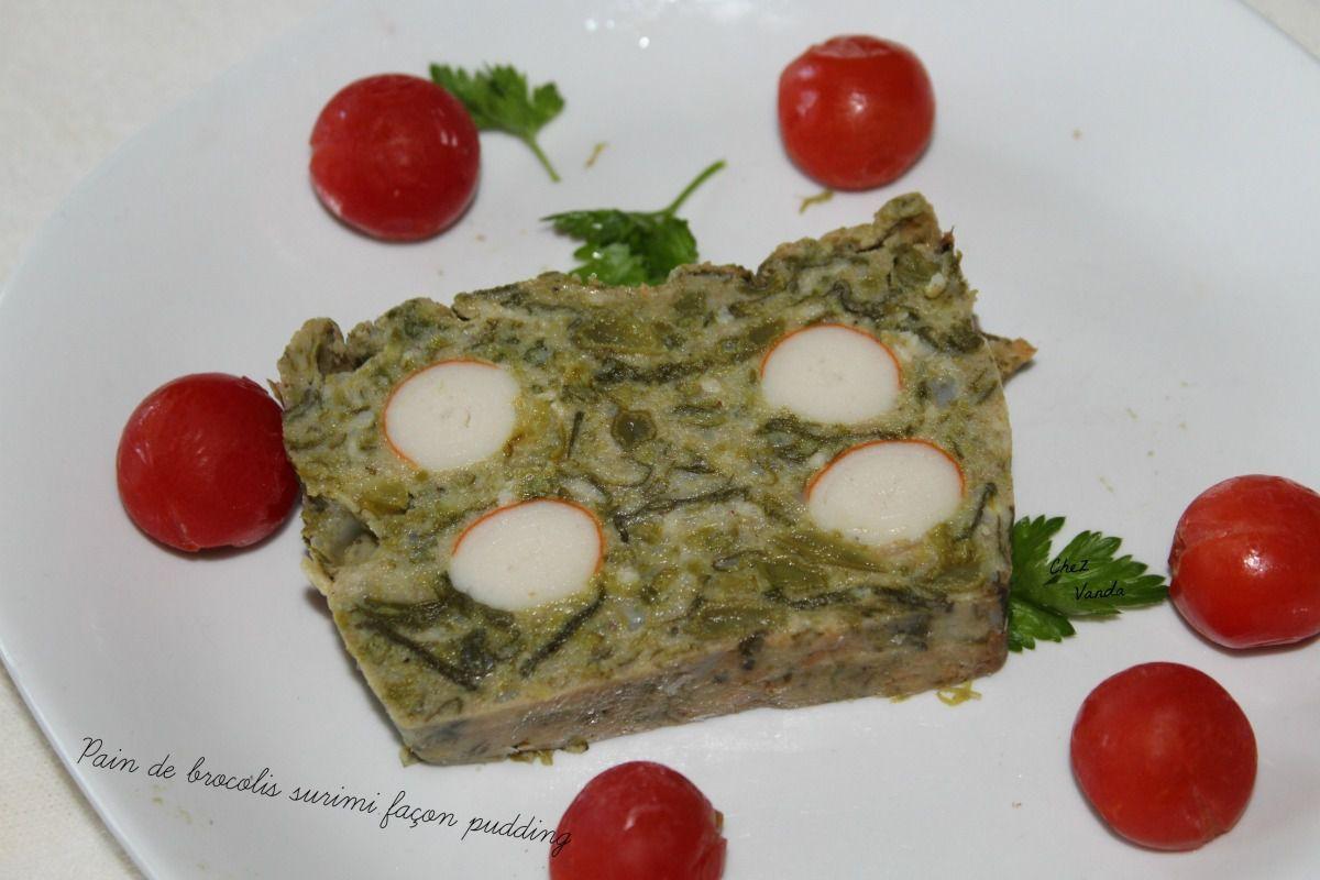 Pain de brocolis surimi façon pudding