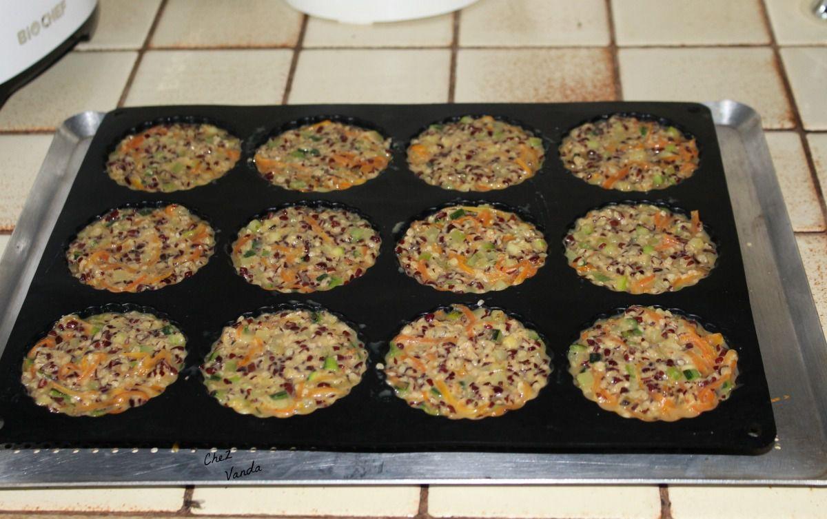 Galettes de légumes aux flocons d'azukis