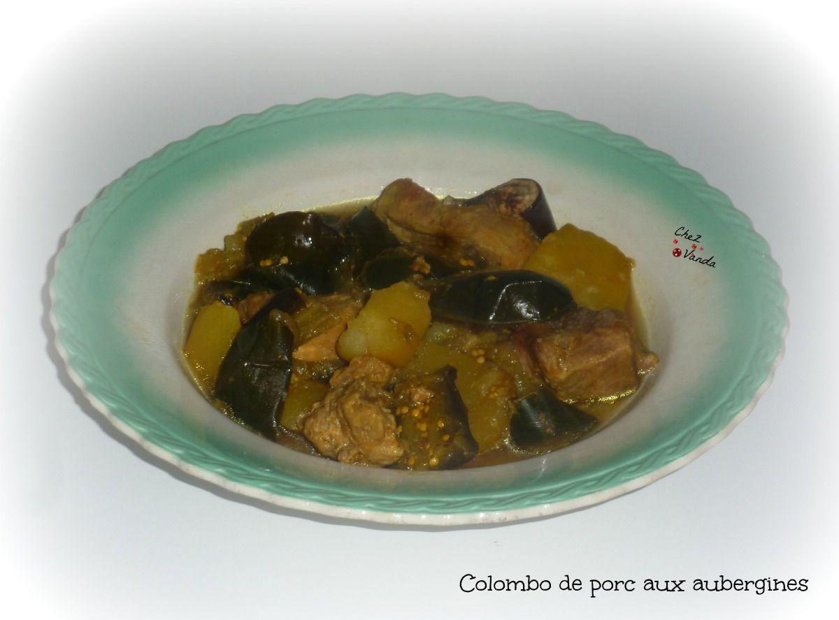 Colombo de porc aux aubergines