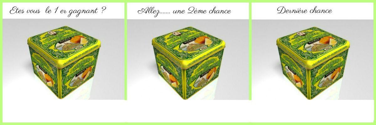 Qui sont les 3  chanceux qui vont recevoir une belle boîte de palets au citron  ?