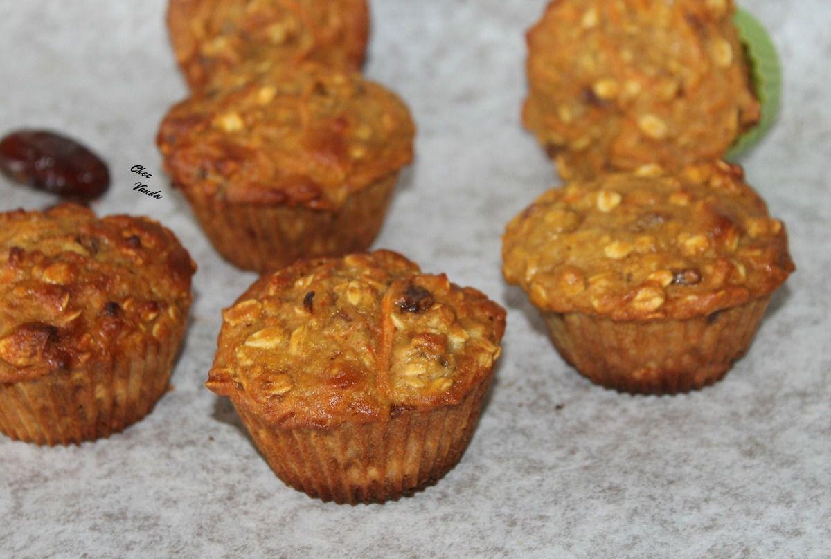 Muffins orange carotte et dattes