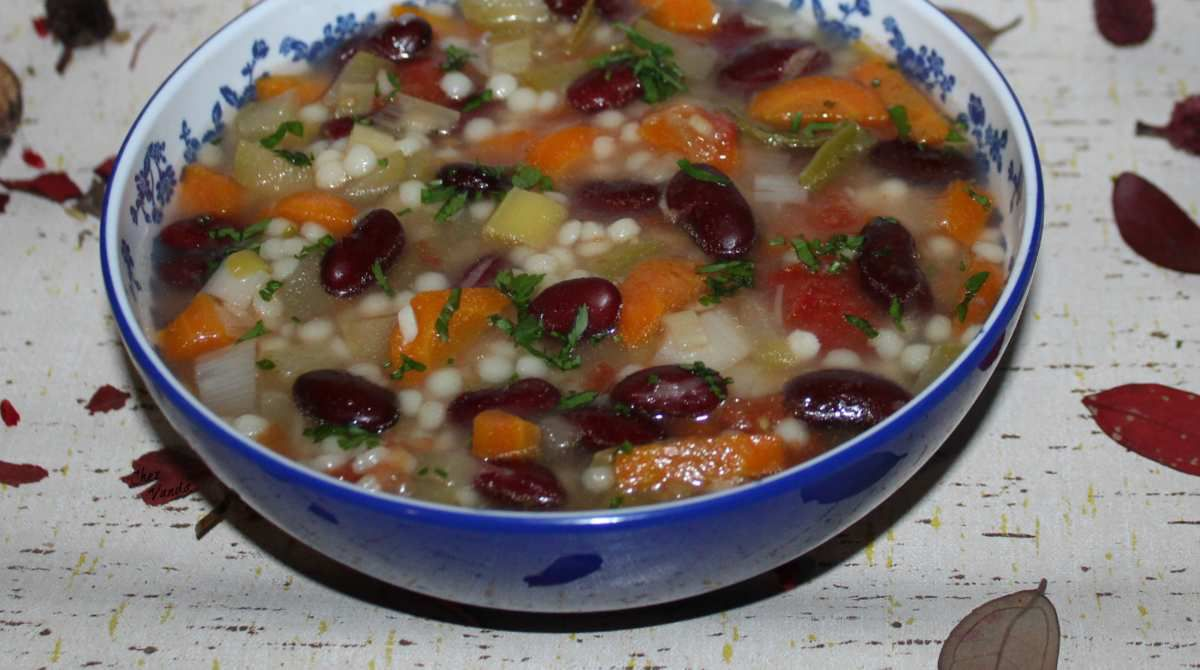 Minestrone aux haricots rouges