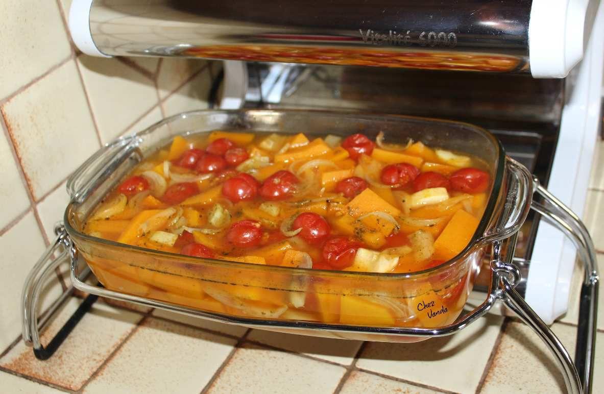 Velouté de  potiron et tomates aux herbes de Provence