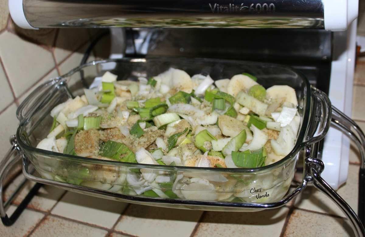 Velouté de poireaux au gingembre et sa bresaola croustillante