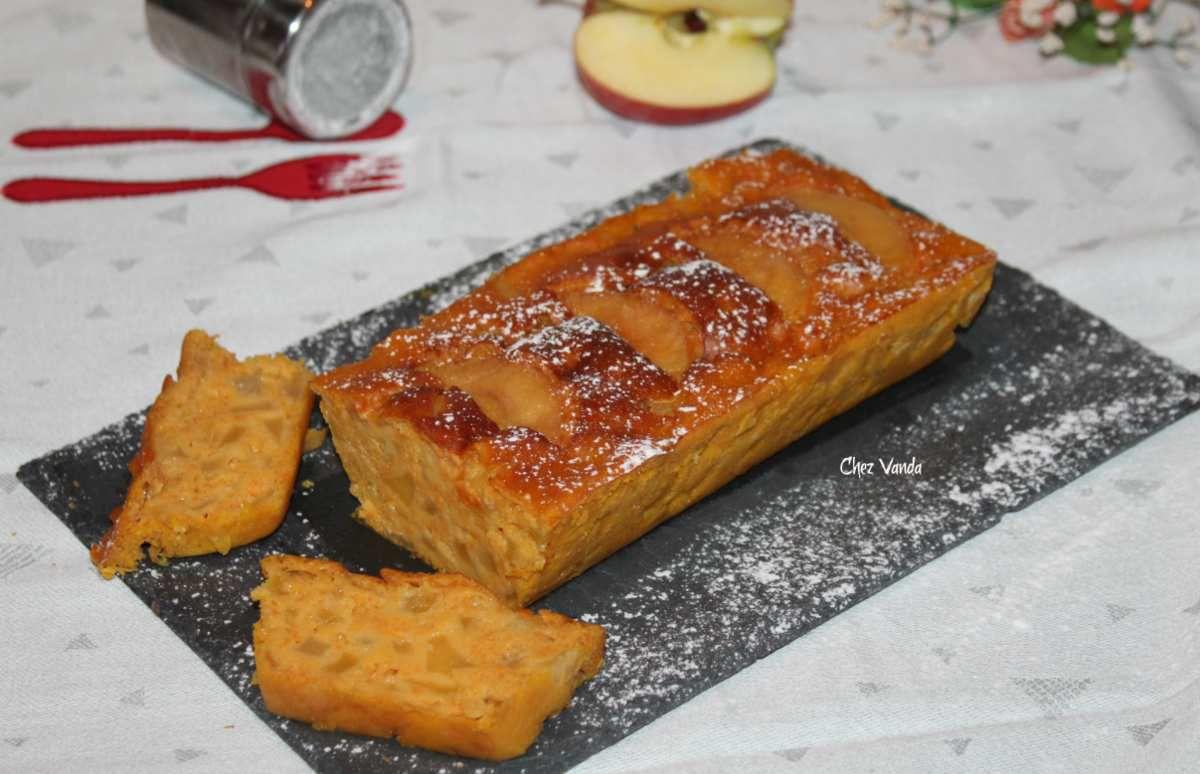 Cake léger aux pommes et au potiron