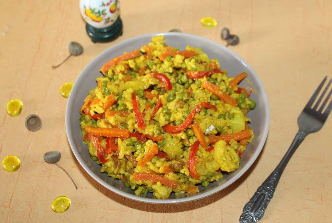 Riz biryani aux légumes