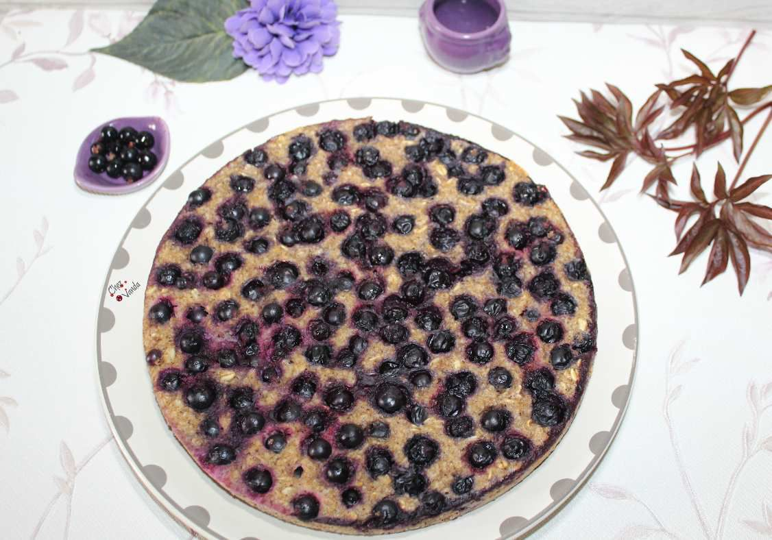 Gâteau d'avoine aux fruits rouges ( version cassis )