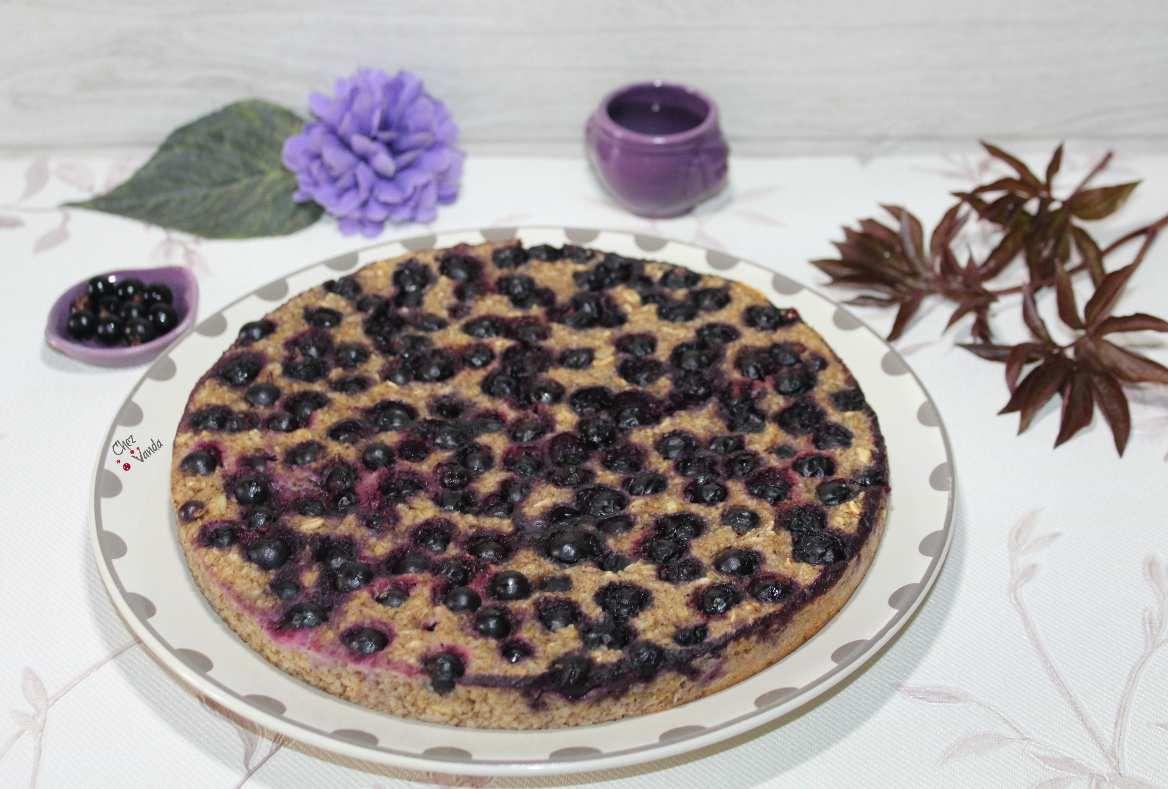 Gâteau d'avoine aux fruits rouges ( version cassis )