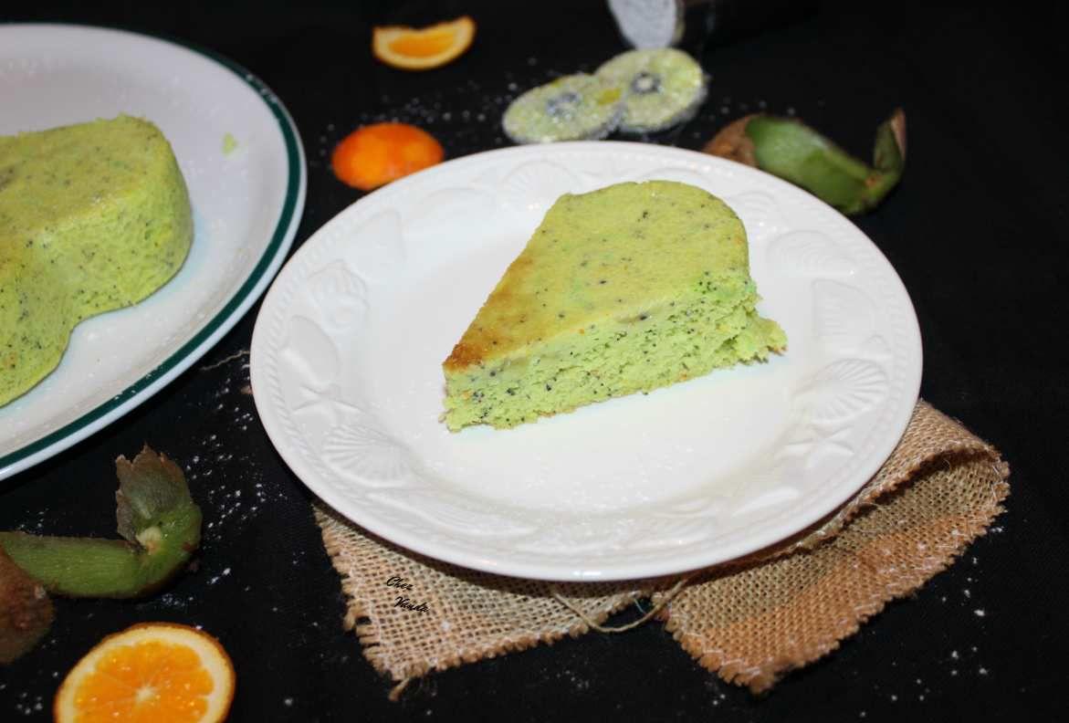 Gâteau à l'orange et aux kiwis (sans farine )