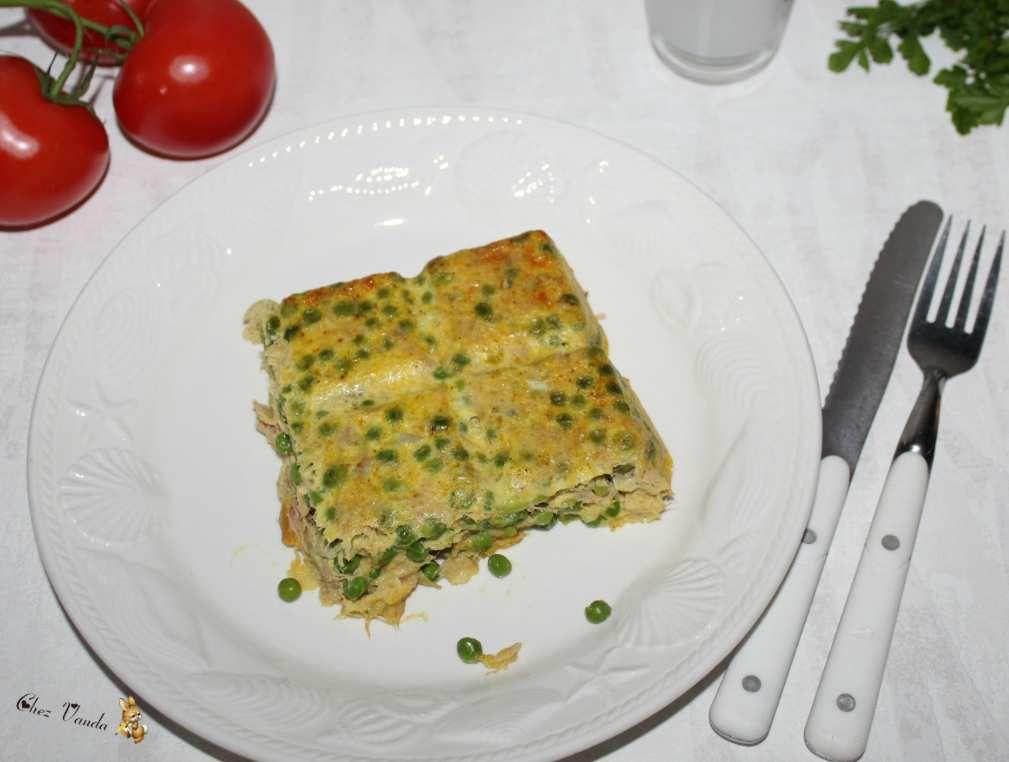 Carré  de thon aux petits pois (+ idée menu à 4 SP )