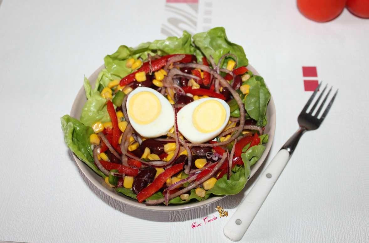 Salade à la mexicaine (pour 1 pers)