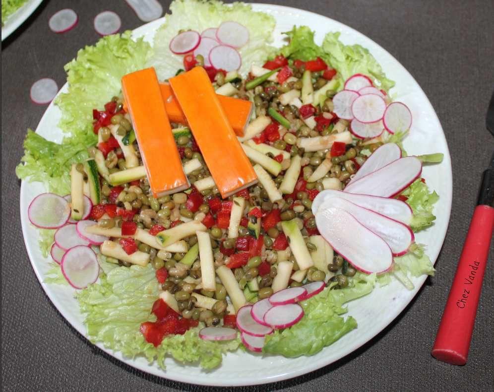 Assiette Mungo et ses légumes croquants (pour 1 pers)