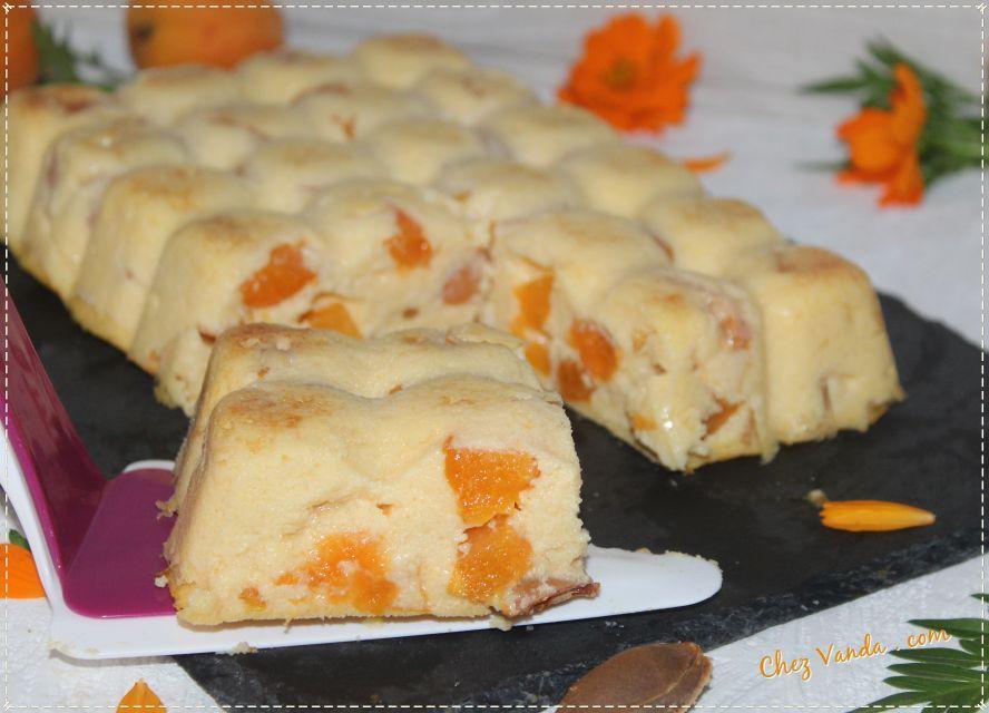 Flan de semoule aux abricots