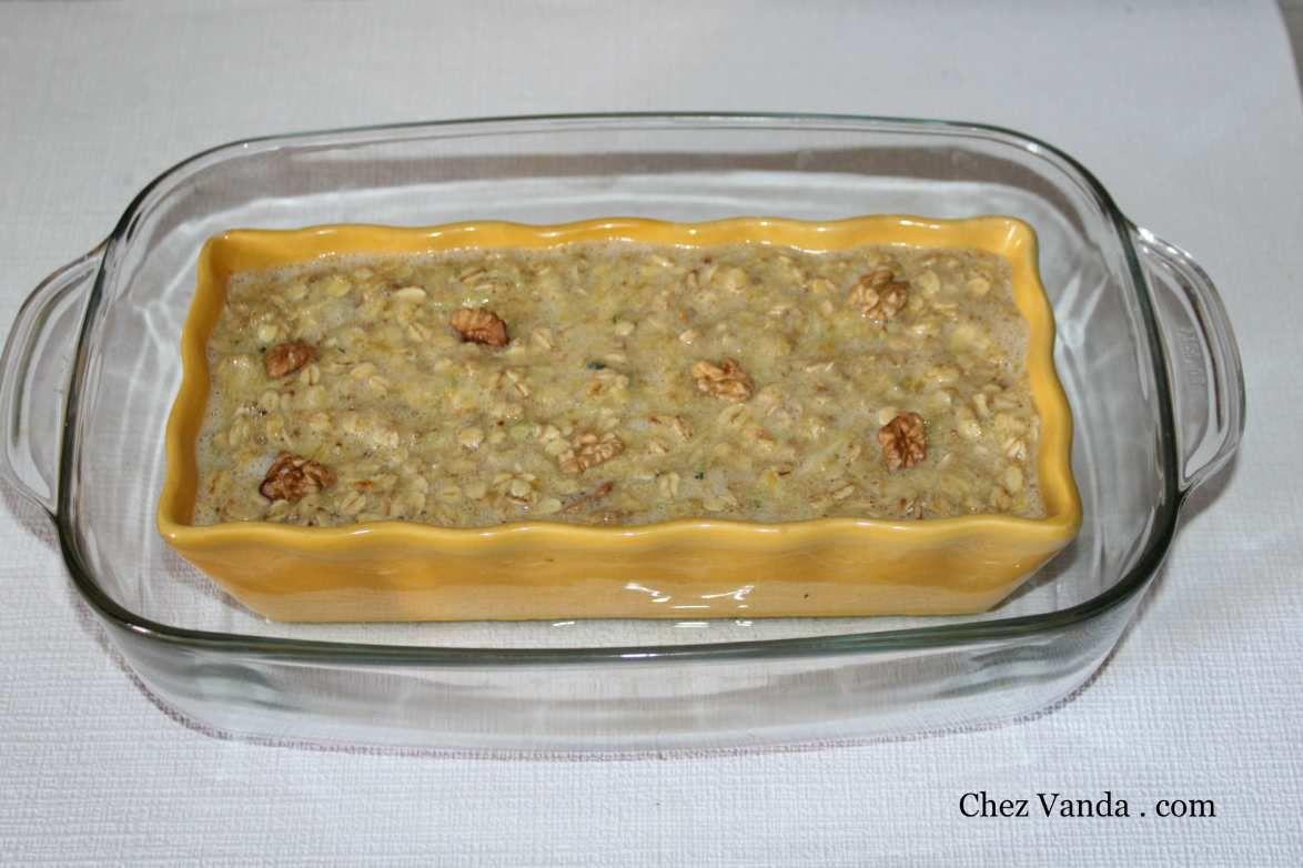 Cake aux flocons d'avoine ,noix +mon ingrédient mystère