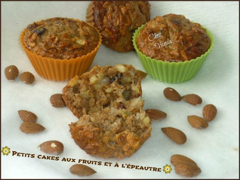 petits cakes epetautre fruits recette weight watchers