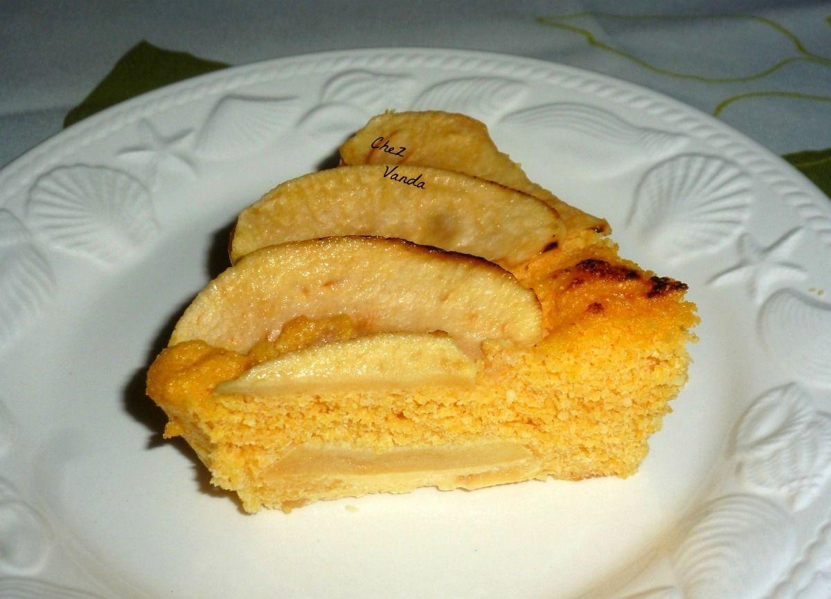 Gâteau de pomme à la polenta