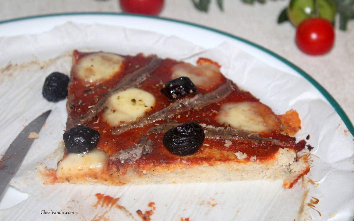 Pizza en pâte de chou-fleur (2 versions )