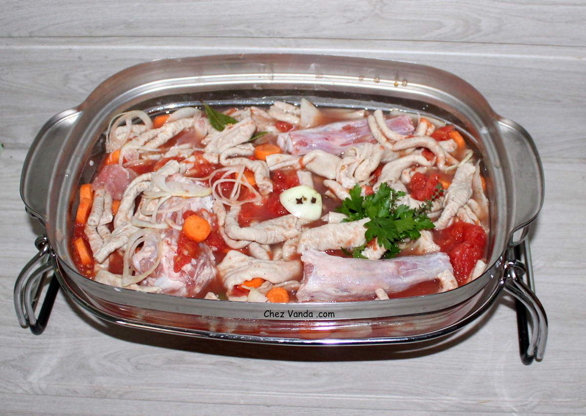 Fraise de veau  à la tomate