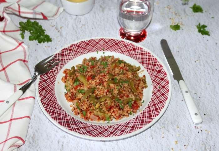 Quinoa gourmand  à la basquaise à l'omnicuiseur