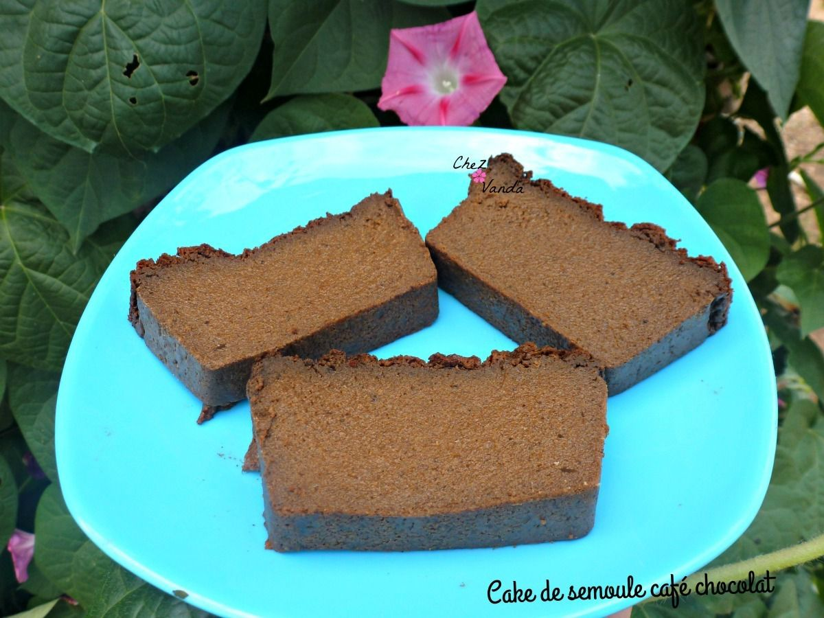 cake de semoule café chocolat a  l'omnicuiseur