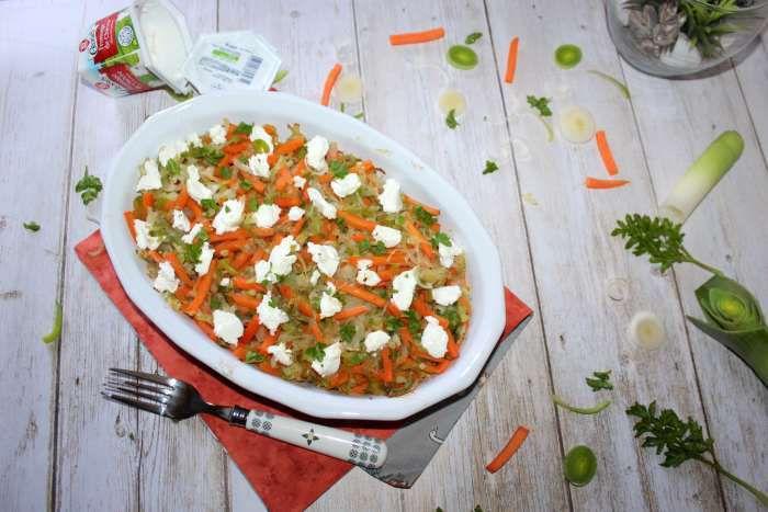 Gratin de quinoa aux petits légumes et au chèvre frais recette ww