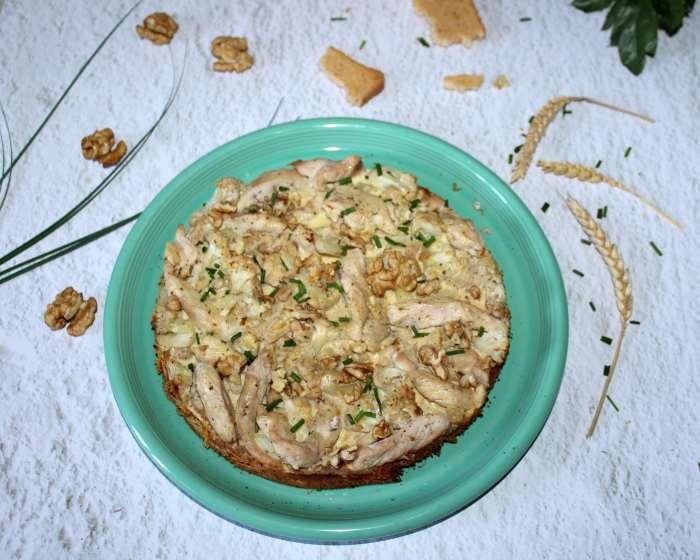 tarte moelleuse  poulet ail et fines herbes recette WW