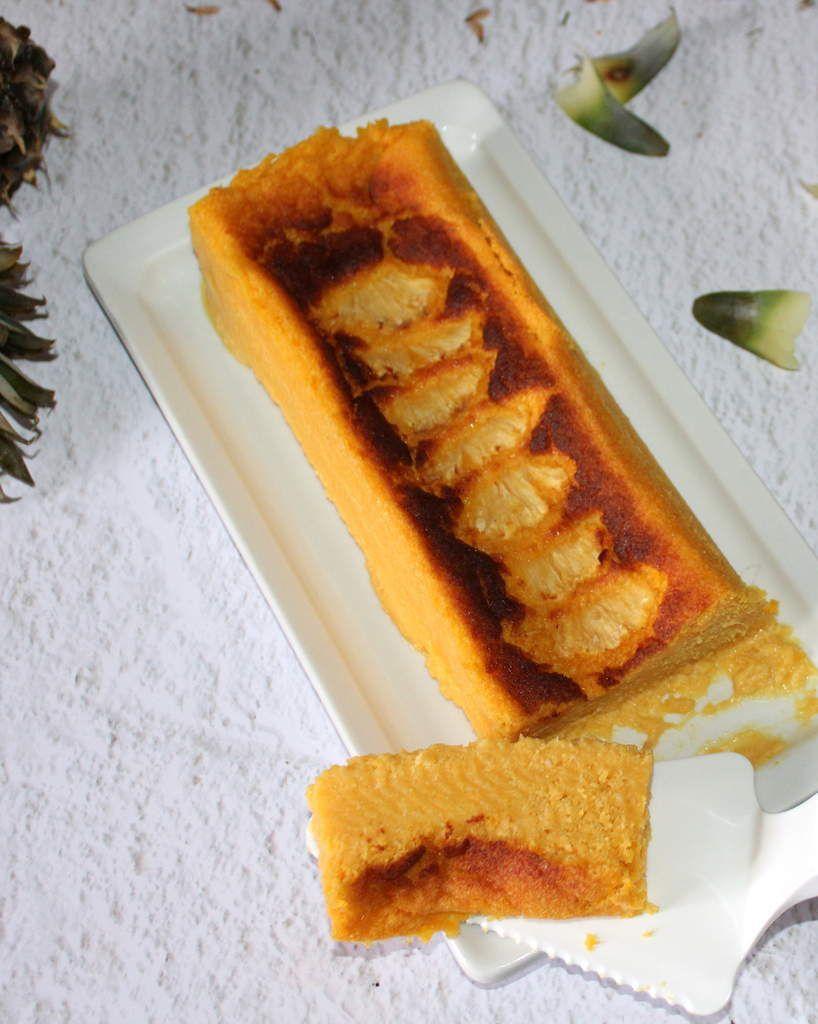 cake flan de polenta  à l'ananas  à l'Omnicuiseur