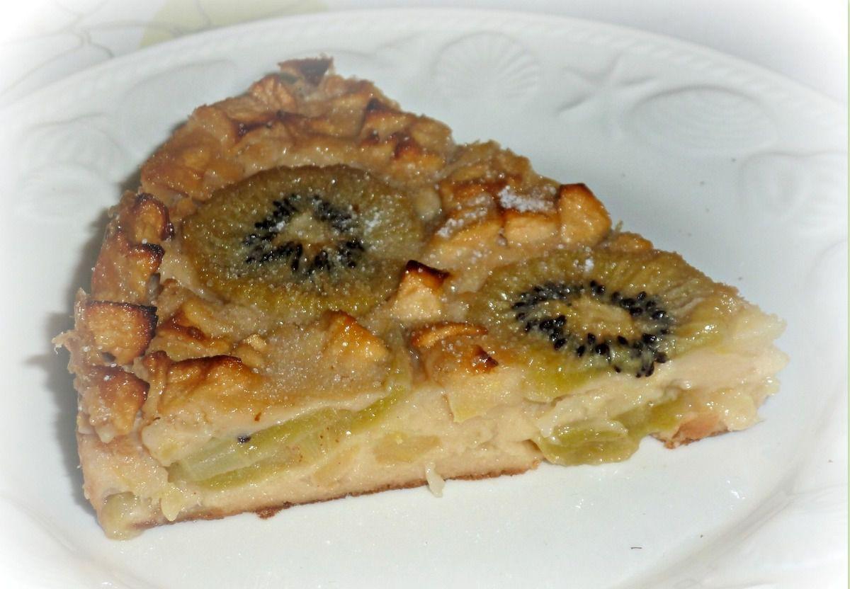 clafoutis  pommes  kiwi recette WW