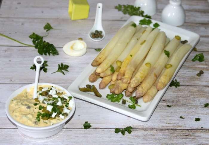 asperges sauce tartare recette allégée