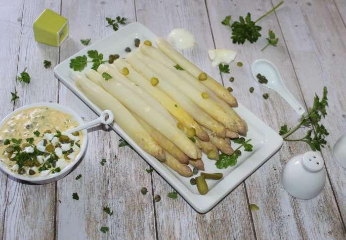 asperges sauce tartare recette allégée a l'omnicuiseur