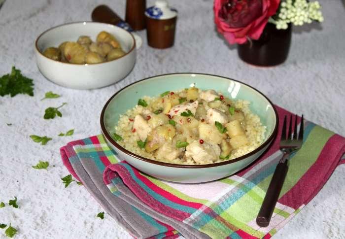Mijoté de poulet aux panais et aux petites pâtes rondes recette ww