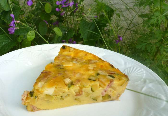 flan courgette jambon weightwatchers