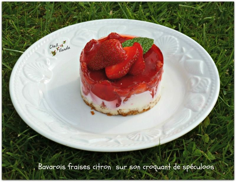 bavarois fraises citron  Weightwatchers