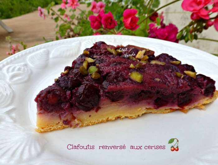 clafoutis renversé  cerises  weight watchers