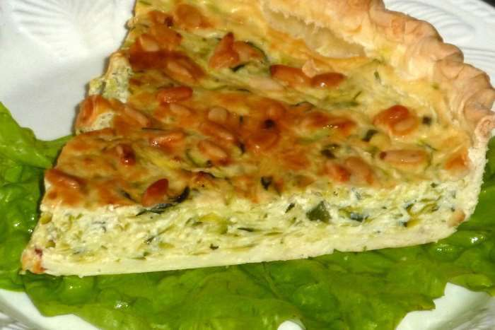 Tarte courgette et boursin weight watchers