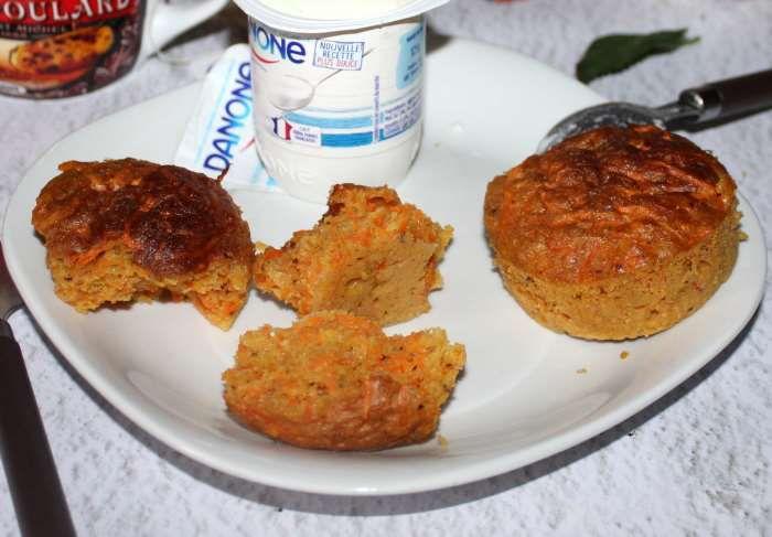 Petits cakes aux carottes et noisettes weight watchers