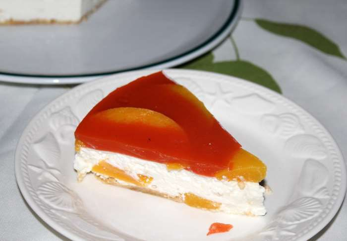 cheesecake  pêches carottes recette ww