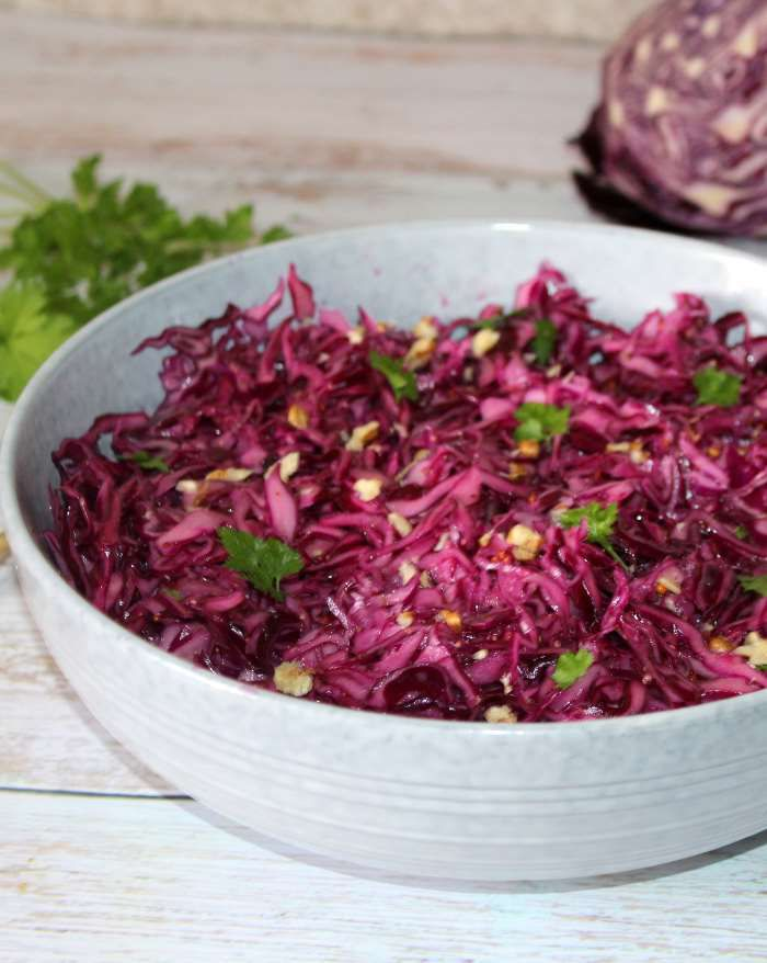 salade  de chou rouge  Weight watchers recette