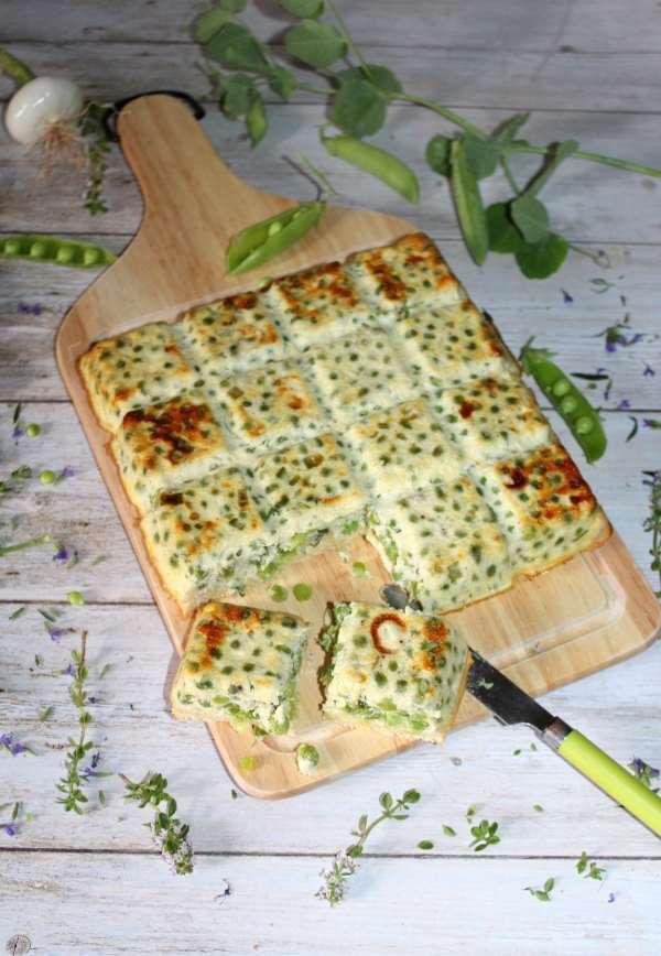 Bread quiche petits pois oignons  au thym